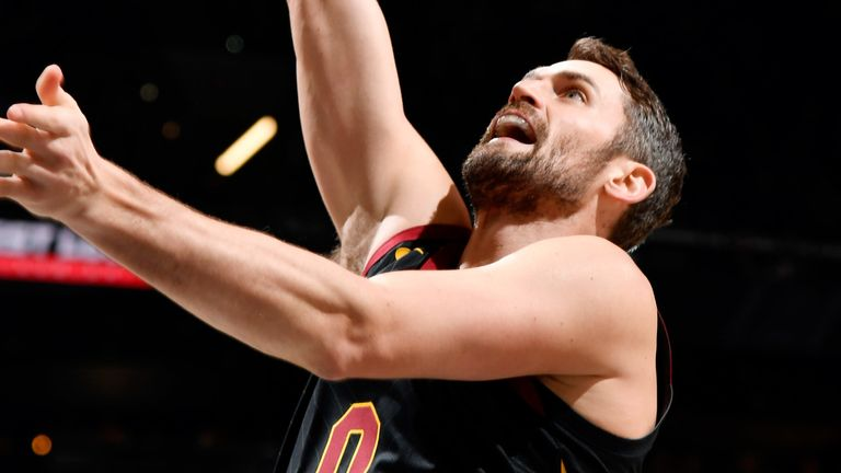 Kevin Love scores with a put-back