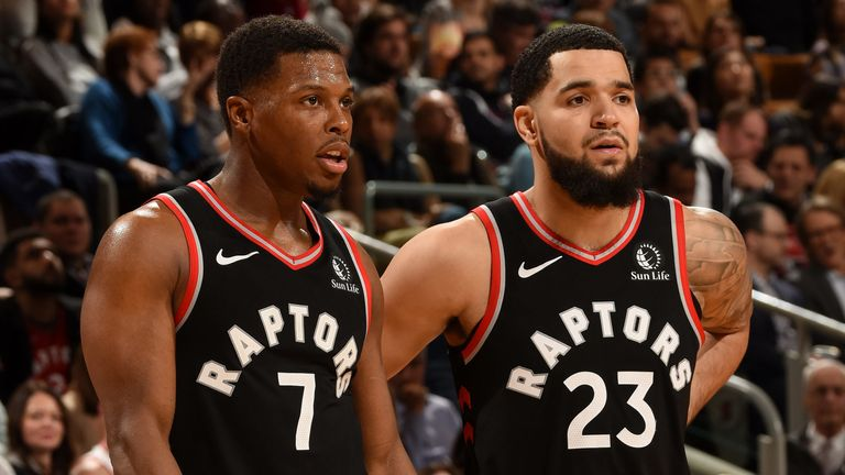 Kyle Lowry and Fred VanVleet in action for the Raptors