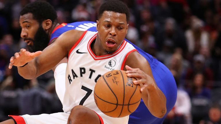 Kyle Lowry in action against the Detroit Pistons