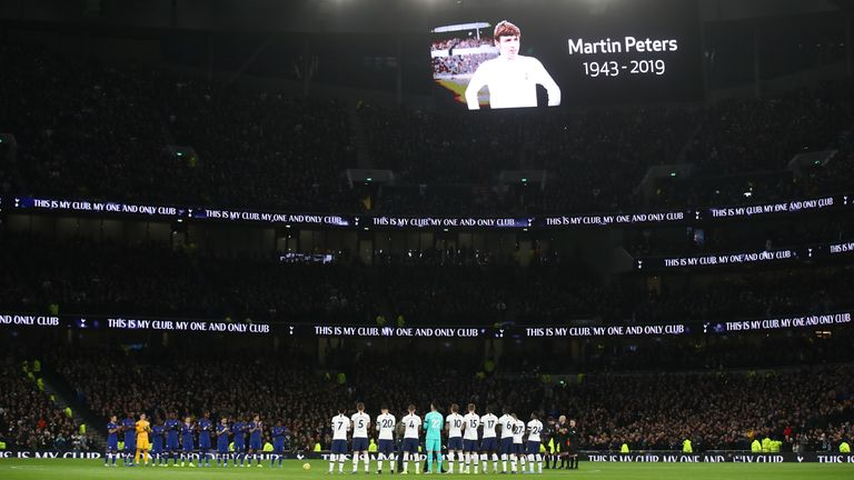 The London Stadium pays tribute to Martin Peters