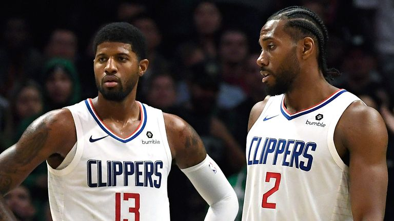 Paul George and Kawhi Leonard in action for the Clippers