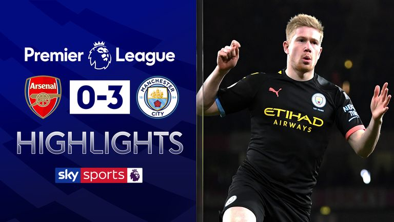 FREE TO WATCH: Highlights from Manchester City's 3-0 win against Arsenal in the Premier League.