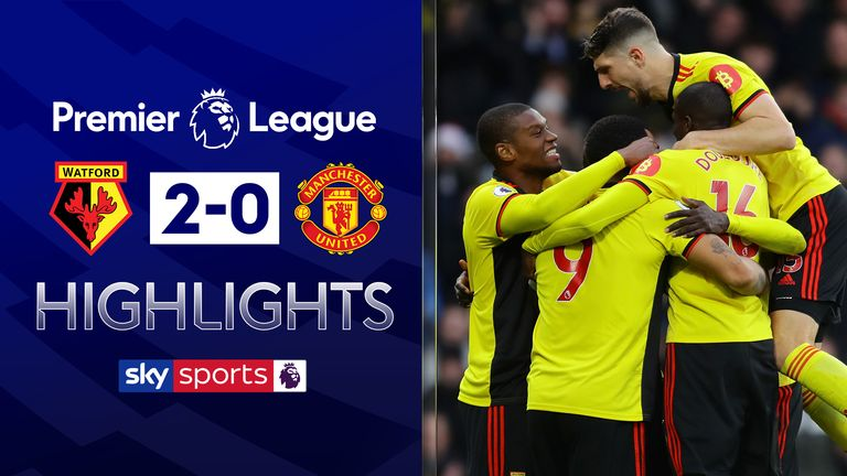 Watford 2 0 Manchester United David De Gea Howler Helps Gift Nigel Pearson First Win As Hornets Boss Football News Sky Sports