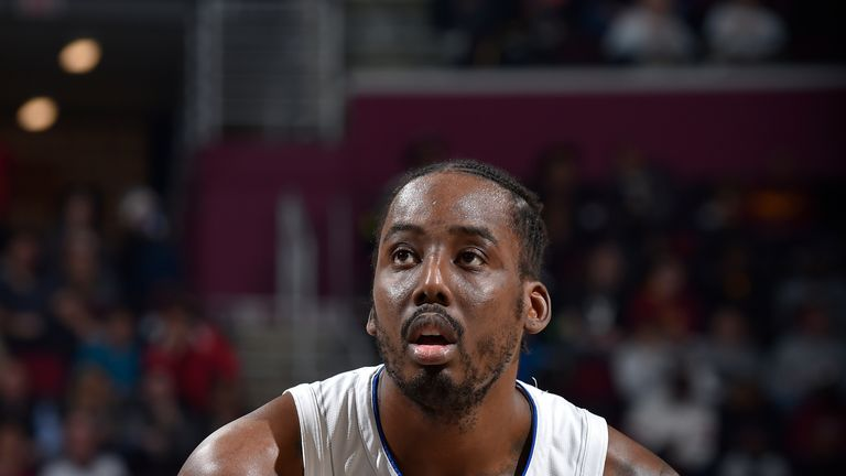 CLEVELAND, OH - NOVEMBER 27: Al-Farouq Aminu #2 of the Orlando Magic shoots a free throw against the Cleveland Cavaliers on November 27, 2019 at Quicken Loans Arena in Cleveland, Ohio. NOTE TO USER: User expressly acknowledges and agrees that, by downloading and/or using this Photograph, user is consenting to the terms and conditions of the Getty Images License Agreement. Mandatory Copyright Notice: Copyright 2019 NBAE (Photo by David Liam Kyle/NBAE via Getty Images)