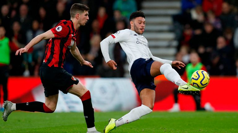 Alex Oxlade-Chamberlain put Liverpool ahead just a minute after Nathan Ake was substituted with injury