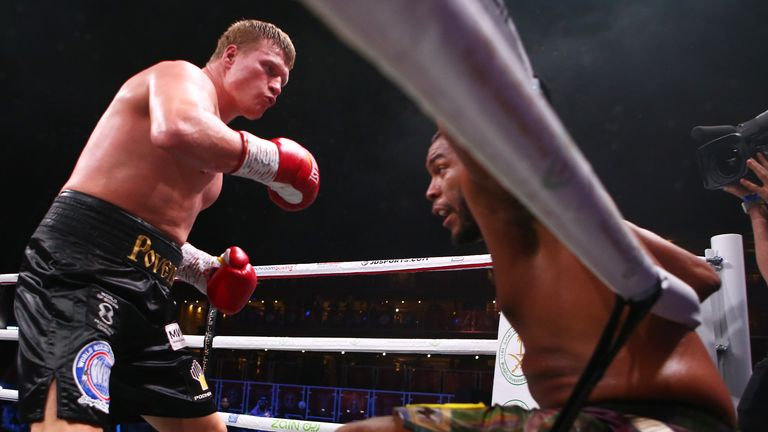 Povetkin fought Hunter to a draw last month