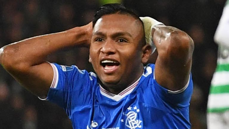Alfredo Morelos League Cup final Rangers vs Celtic