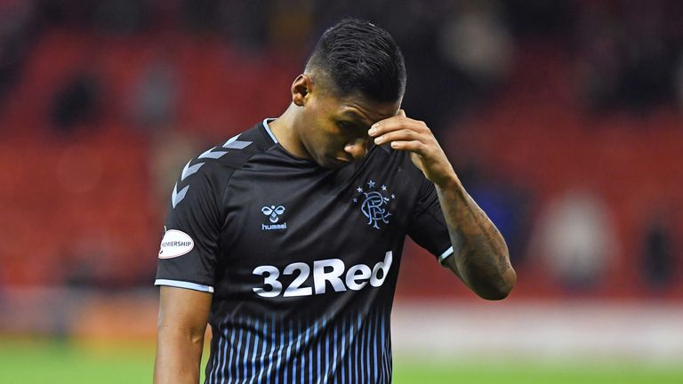 Alfredo Morelos is dejected at full-time