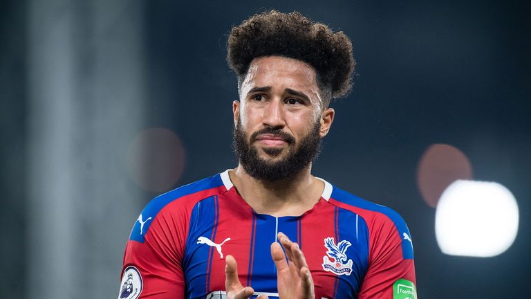 Andros Townsend of Crystal Palace reaction during the Premier League match between Crystal Palace and Liverpool FC at Selhurst Park on November 23, 2019 in London, United Kingdom.