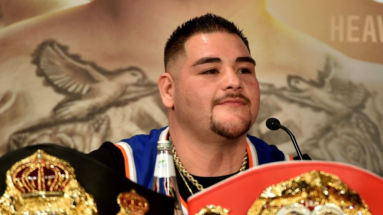 Andy Ruiz currently holds the IBO, IBF, WBO and WBA titles