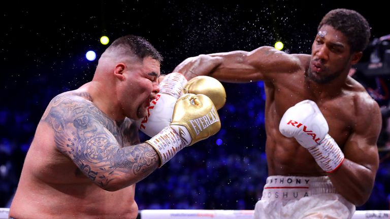 Anthony Joshua sealed a points win over Ruiz Jr in their rematch