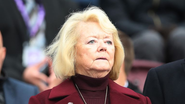 Hearts owner Ann Budge is seen during the Ladbrokes Premiership match between Heart of Midlothian and St Johnstone at Tynecastle Stadium on September 29, 2018 in Edinburgh, Scotland.
