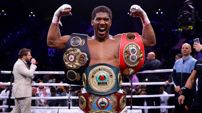 Anthony Joshua reclaims the world titles he lost to Andy Ruiz Jr in June