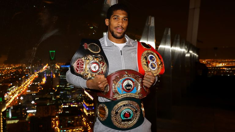 Anthony Joshua has called out Oleksandr Usyk as he prepares to defend his world titles in March 2020