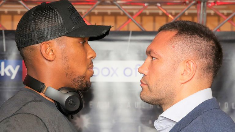 AJ was scheduled to face Pulev in 2017