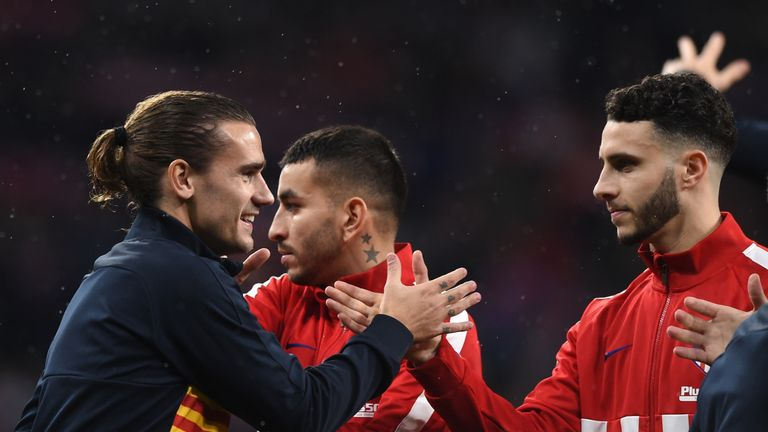 Griezmann was returning to play against his former team-mates for the first time