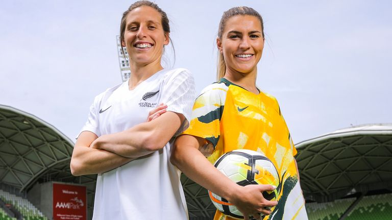 Rebekah Stott of New Zealand and Stephanie Catley of Australia will hope to be playing in a home World Cup in 2023