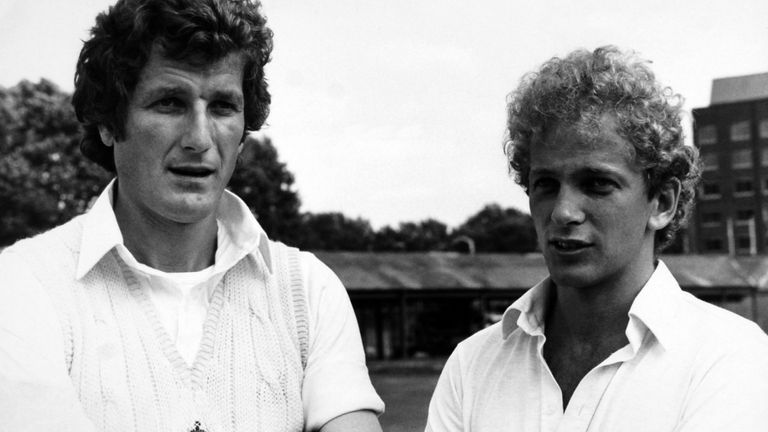 England captain Bob Willis and David Gower at Lord's on the eve of the second Cornhill test match against Pakistan in 1982