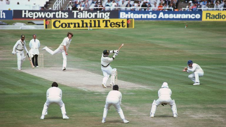 Australia batsman Rodney Marsh hooks England bowler Bob Willis only to be caught on the third man boundary by Graham Dilley (not pictured) as Willis bowls England to victory on the final day of the 3rd Cornhill Test Match between England and Australia at Headingley on July 21, 1981