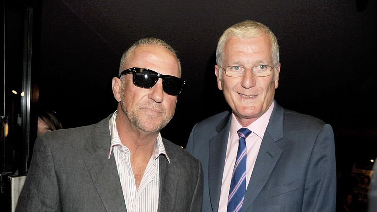 Former cricketers Sir Ian Botham (L) and Bob Willis attend the World Premiere of 'From The Ashes' at The Curzon Mayfair on May 10, 2011 in London, England.