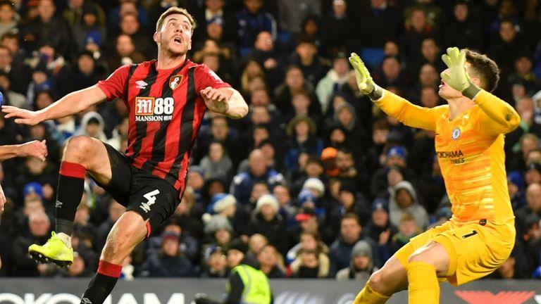 Dan Gosling scored Bournemouth's winner at Chelsea earlier in the season