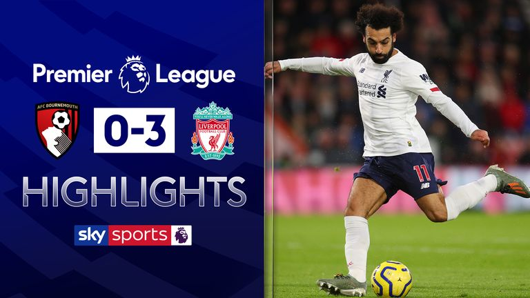 Highlights from Bournemouth vs Liverpool in the Premier League