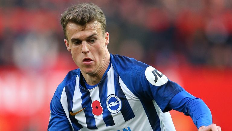 Brighton will be without defender Solly March for up to a month