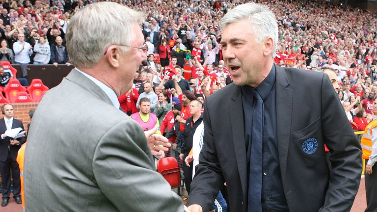 Ancelotti was linked with replacing Sir Alex Ferguson at Manchester United