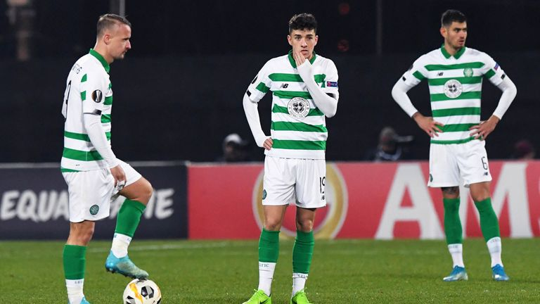 A shadow Celtic side lost their unbeaten record in the Europa League this season