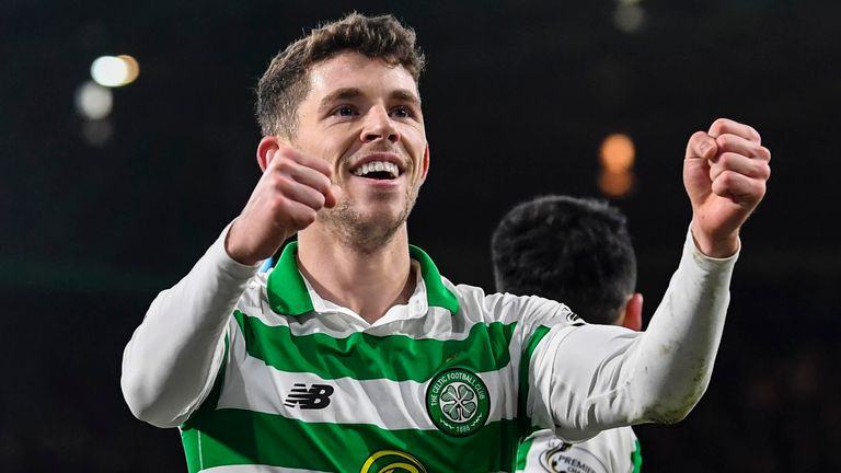 Ryan Christie celebrates after scoring a goal (Image credit: Google)