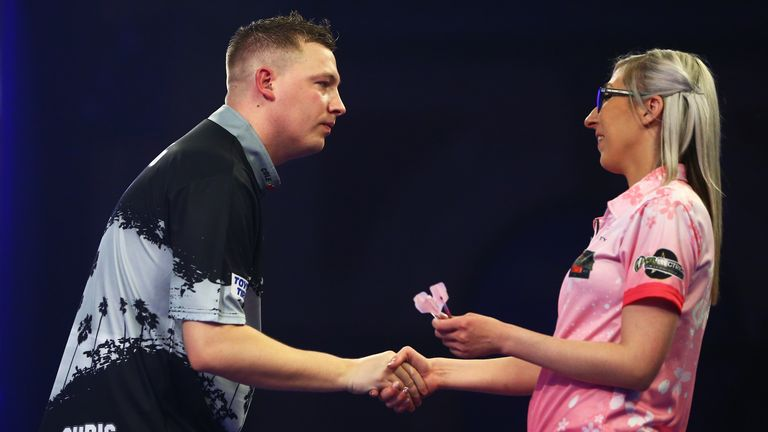Dobey overcame Fallon Sherrock at the Ally Pally at Christmas time