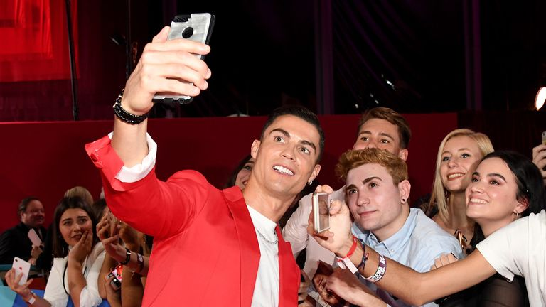 Cristiano Ronaldo attends the MTV EMAs 2019 at FIBES Conference and Exhibition Centre on November 03, 2019 in Seville, Spain