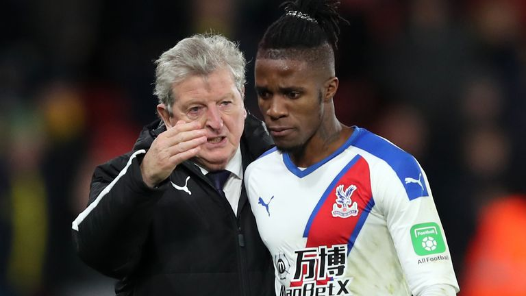 Crystal Palace boss Roy Hodgson is relaxed over the future of Wilfried Zaha