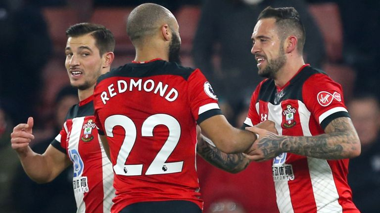 Southampton's Danny Ings (right) celebrates scoring his side's first goal of the game