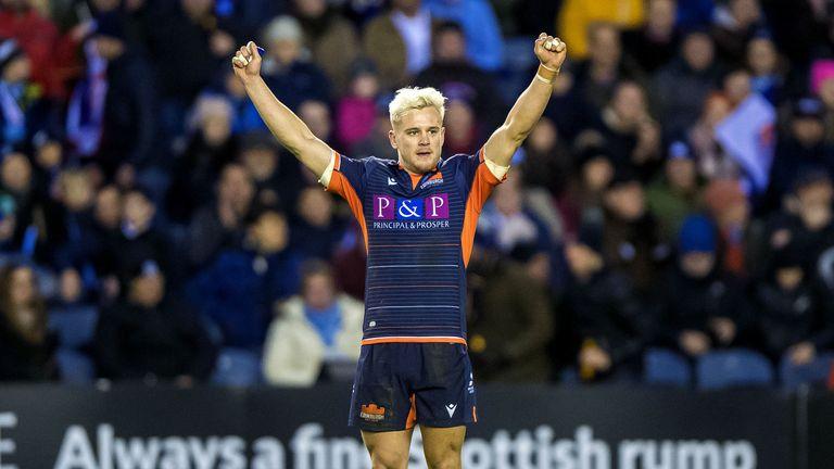 Darcy Graham celebrates Edinburgh's win