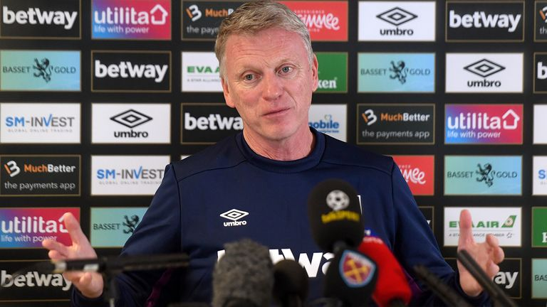 New West Ham manager David Moyes during his first press conference