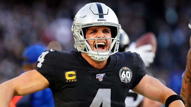 Derek Carr was 361	 of  513 passing for 4,054 and 21 touchdowns last season