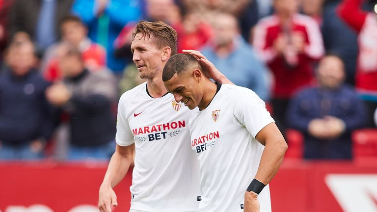 Diego Carlos scored the only goal of the game in Sevilla's win