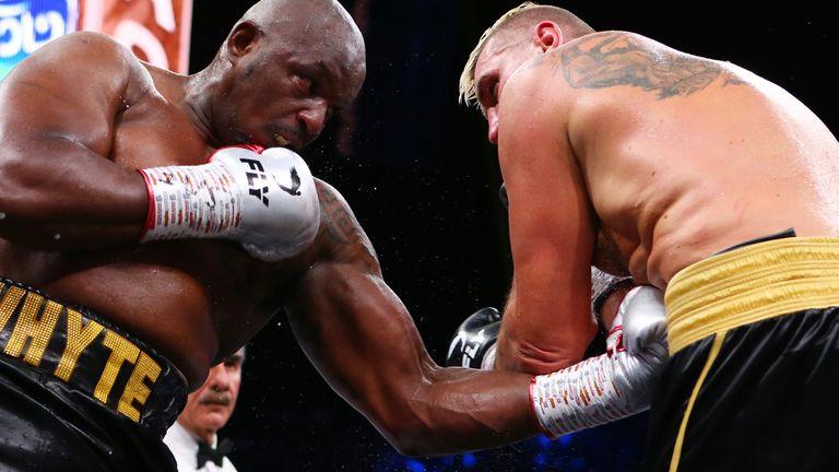 Dillian Whyte v Mariusz Wach, Heavyweight bout, Diriyah, Saudi Arabia..7th December 2019..Picture By Dave Thompson