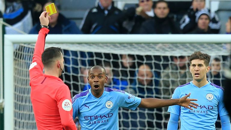 Fernandinho has partnered John Stones in the centre of defence in Premier League matches in recent weeks