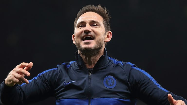 Chelsea boss Frank Lampard celebrated victory over Mourinho  in December