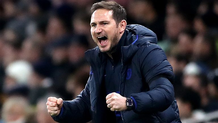 Frank Lampard's side are three points ahead of Manchester United in the Premier League table with nine matches remaining