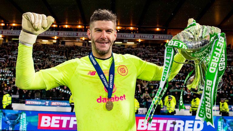 Fraser Forster Celtic League Cup final