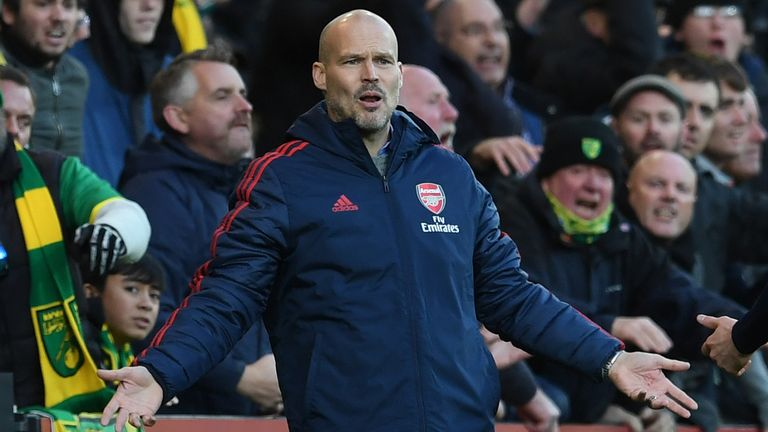 Ljungberg's next match in charge of Arsenal is against Brighton on Thursday