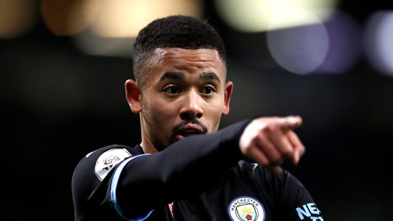 """Manchester City's Gabriel Jesus warms up ahead of the Premier League match at Turf Moor, Burnley. PA Photo. Picture date: Tuesday December 3, 2019. See PA story SOCCER Burnley. Photo credit should read: Martin Rickett/PA Wire. RESTRICTIONS: EDITORIAL USE ONLY No use with unauthorised audio, video, data, fixture lists, club/league logos or """"live"""" services. Online in-match use limited to 120 images, no video emulation. No use in betting, games or single club/league/player publications."""