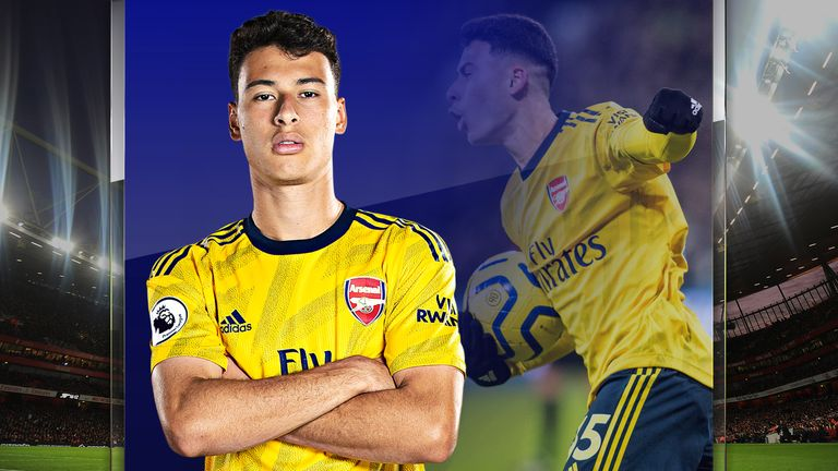 Gabriel Martinelli scored for Arsenal on his full Premier League debut at West Ham