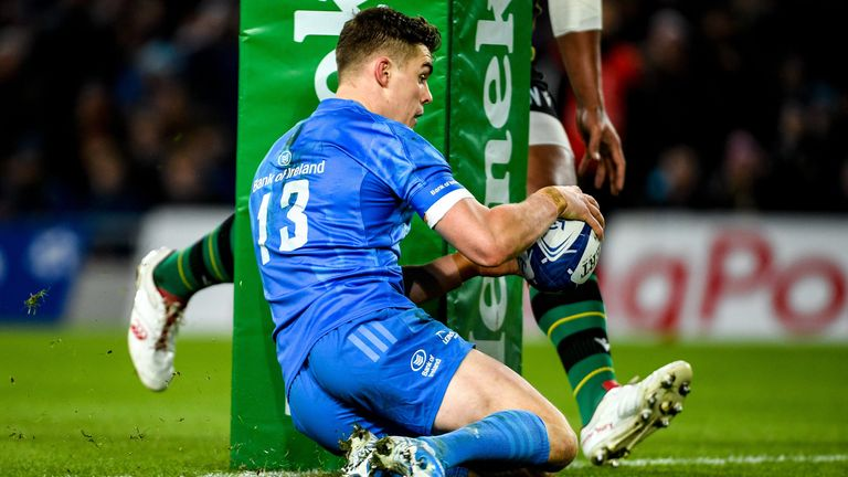 Garry Ringrose led the way for Leinster with three tries against Northampton