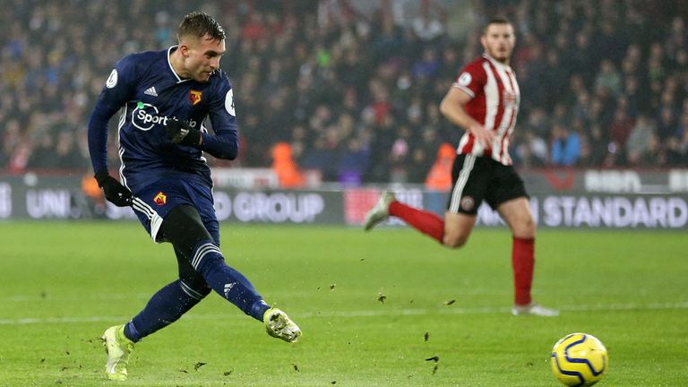 Gerard Deulofeu puts Watford 1-0 up against Sheffield United