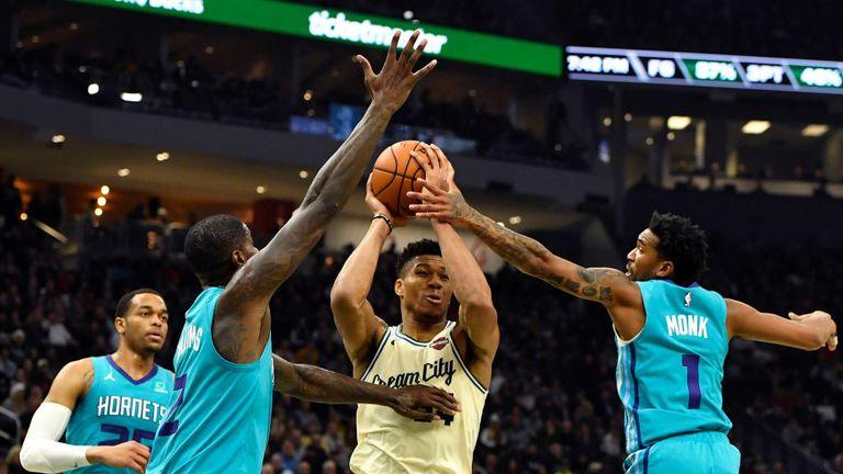 Charlotte Hornets against Milwaukee Bucks in Week 6 of the NBA