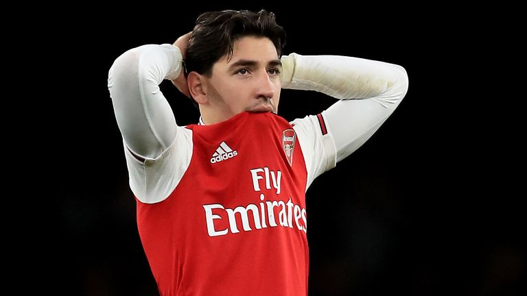 Hector Bellerin was unable to play against West Ham